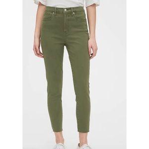 Gap Tall Olive Green Curvy True Skinny Jeans